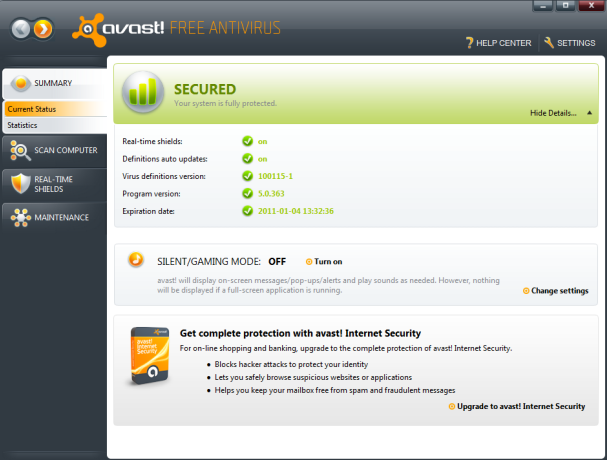 Avast Internet Security 2013 Free Download - ALL PC World