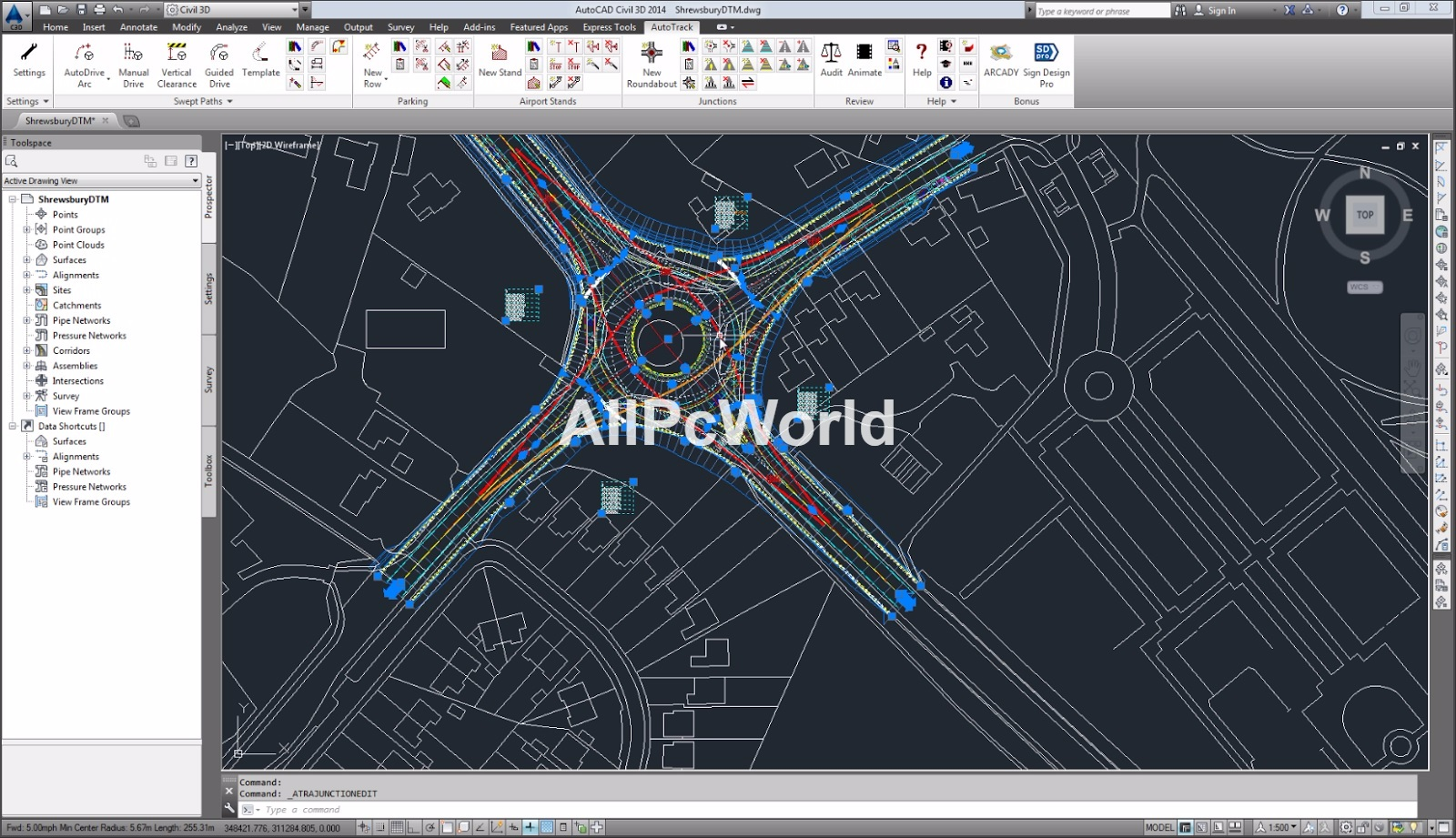 autodesk autocad civil 3d 2017 user interface all pc world. Black Bedroom Furniture Sets. Home Design Ideas