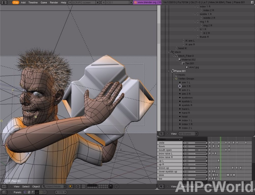 Blender 2.77a animation tool