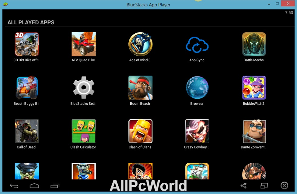 BlueStacks App Player User Interface