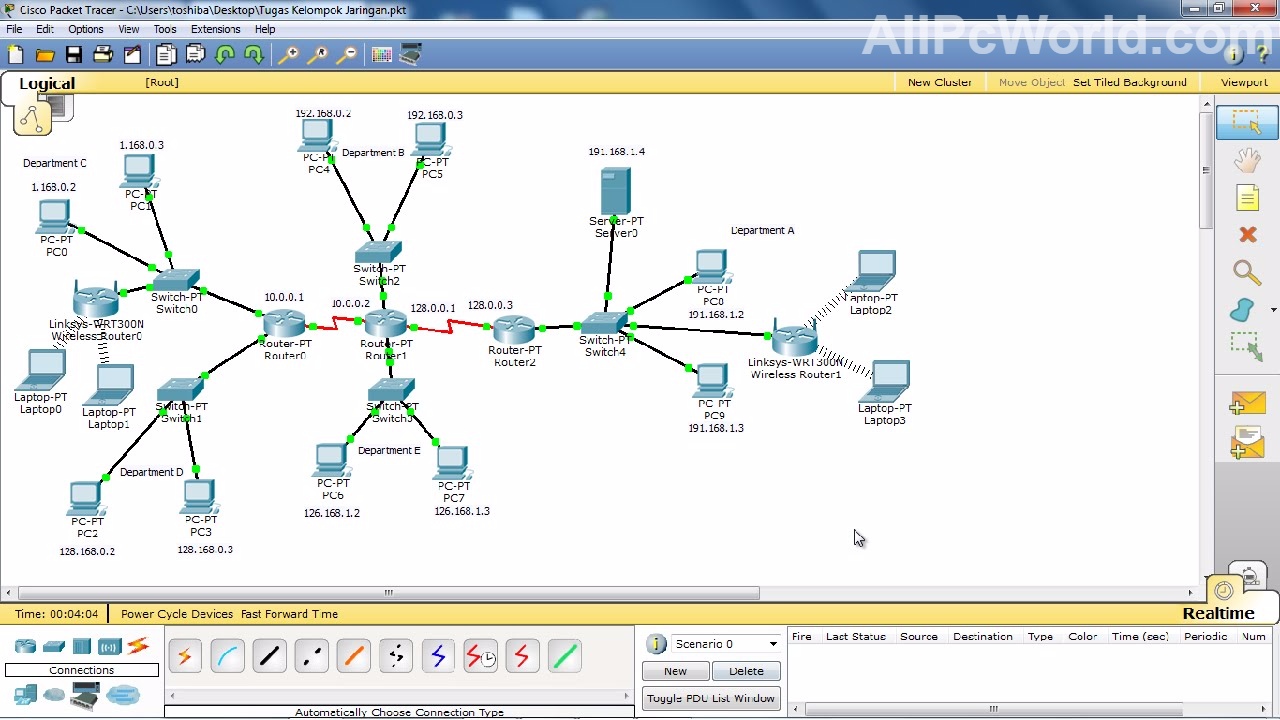 Cisco Packet Tracer Virtual Environment All Pc World