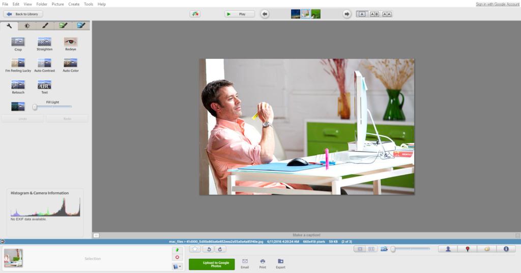 Google Picasa Image Editing Tool