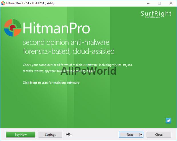 Hitman Pro 3.7.14 Build 265 User Interface