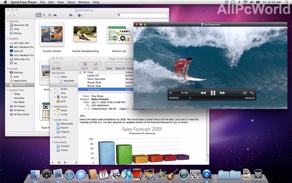 Mac OS X Snow Leopard User Interface