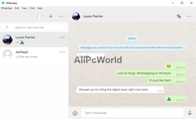 Whatsapp web version for PC