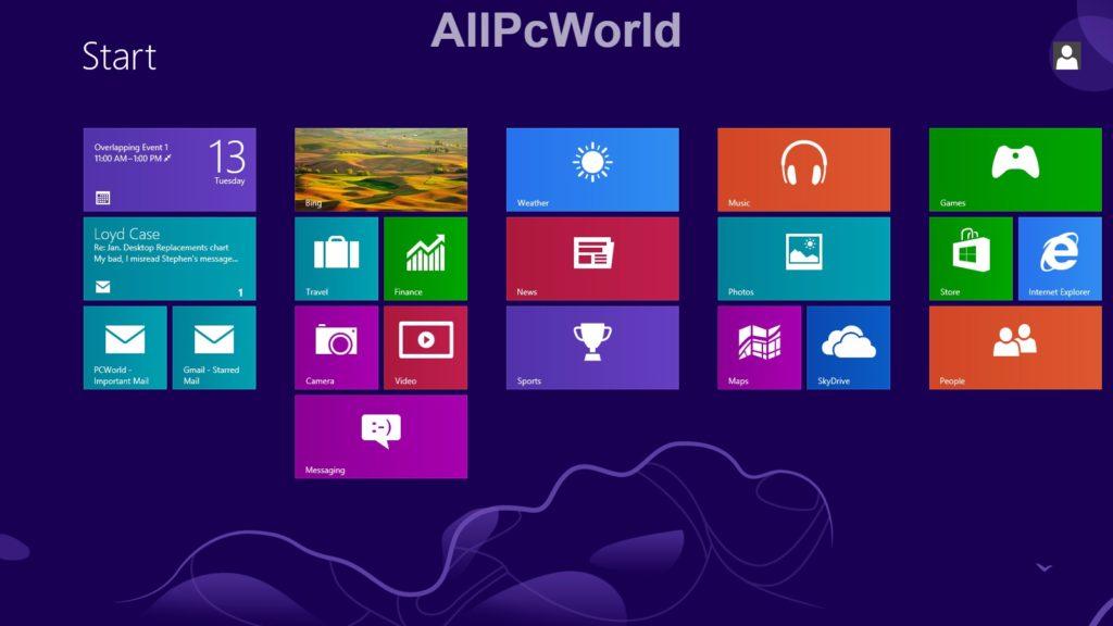 Microsoft Windows 8.0 Start menu