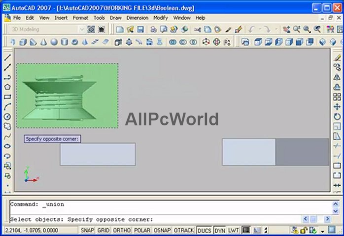 autodesk AutoCAD 2007 User Interface - ALL PC World