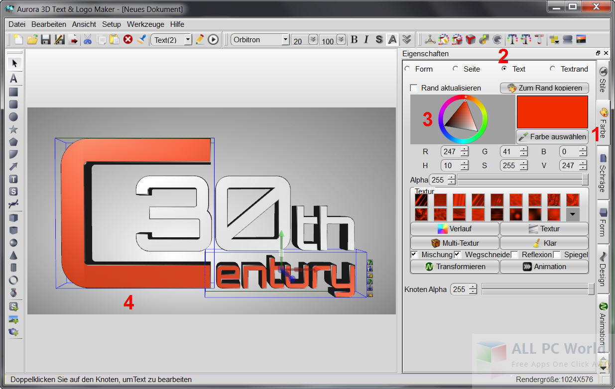 Aurora 3D Text & Logo Maker Review and Features