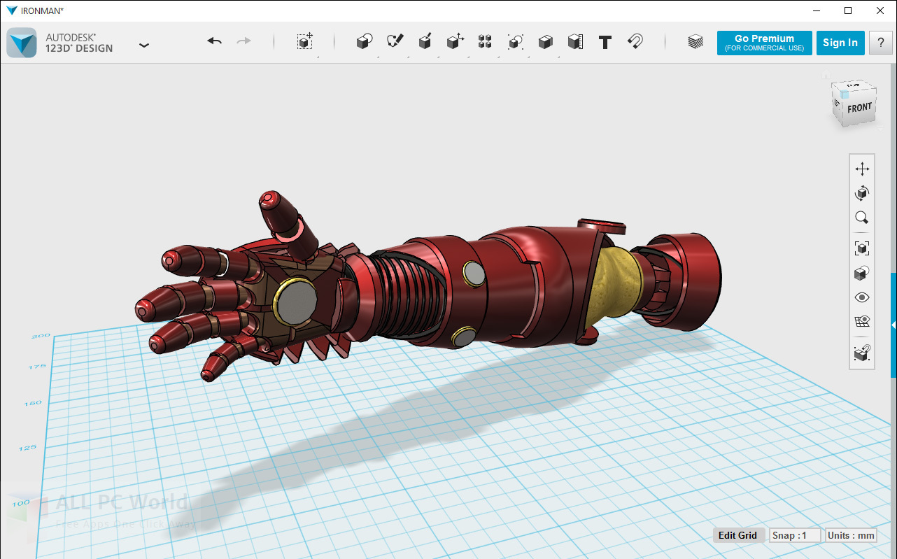 Autodesk 123D Design Free Download