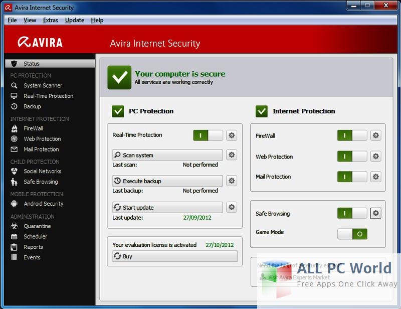 Avira Internet Security Suite 2016 Free Download