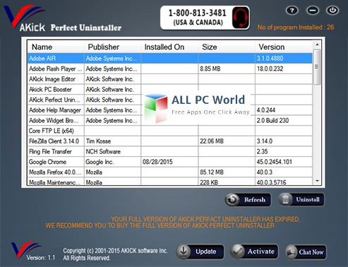 AKick Perfect Uninstaller Review