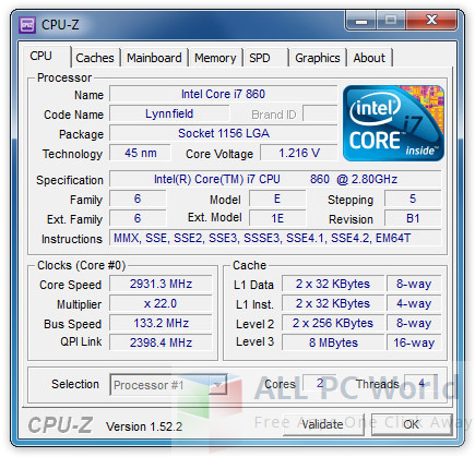 CPU-Z Software Free Download
