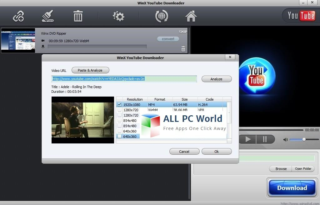 Download WinX YouTube Downloader Free - ALL PC World