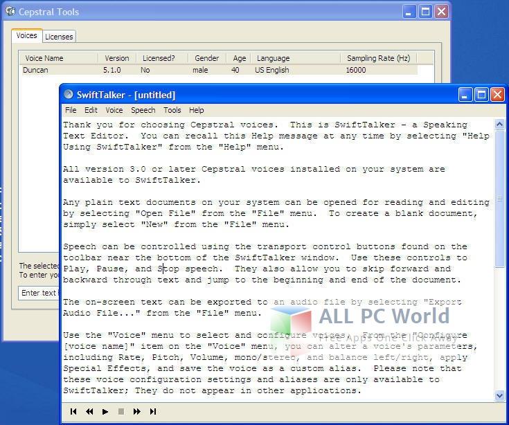 Download Cepstral Allison 6 2 3 SwiftTalker TTS Free - ALL