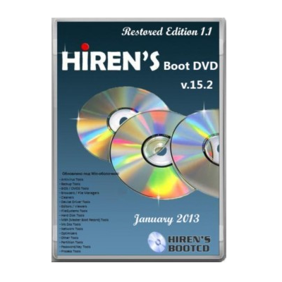 Hirens Boot DVD 15.2 Restored 1.1 Free Download