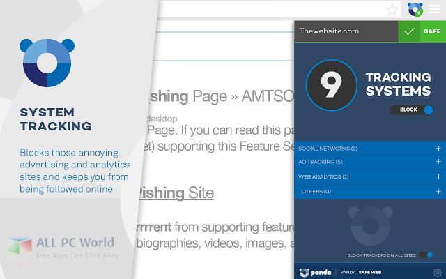 Panda Safe Web Chrome UI