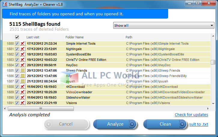 Privazer Shellbag Analyzer & Cleaner Review