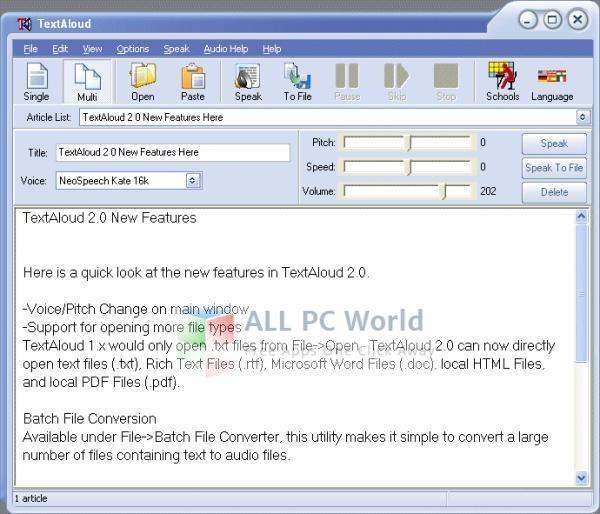 TextAloud Text To Speech Software Review