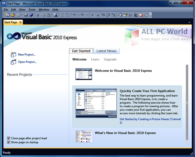 Download Visual Studio 2010 Express Free - ALL PC World