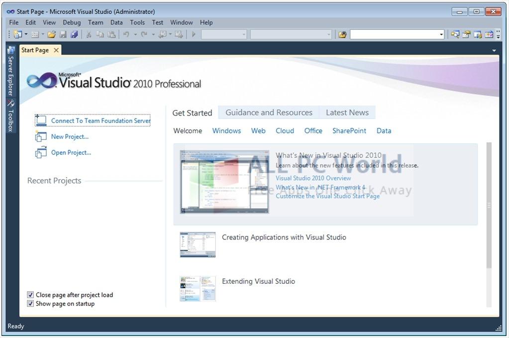 Download Visual Studio 2010 Professional Free - ALL PC World