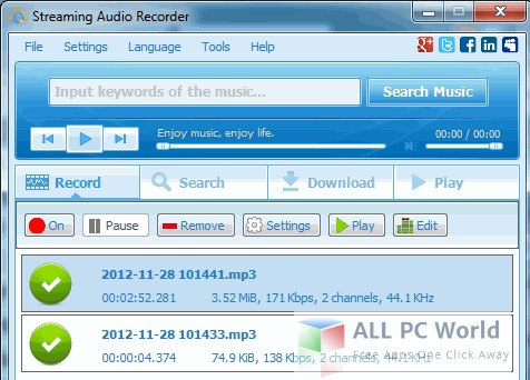 Download Apowersoft Streaming Audio Recorder Free - ALL PC World