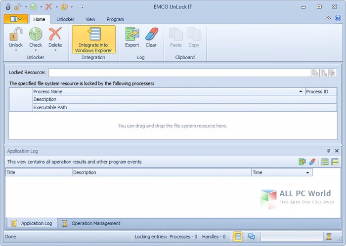 EMCO UnLock IT 4.0.1 User Interface