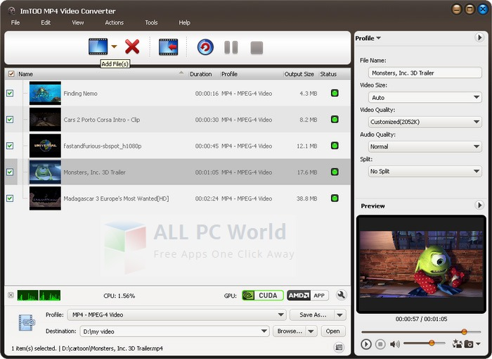 ImTOO MP4 Video Converter Review