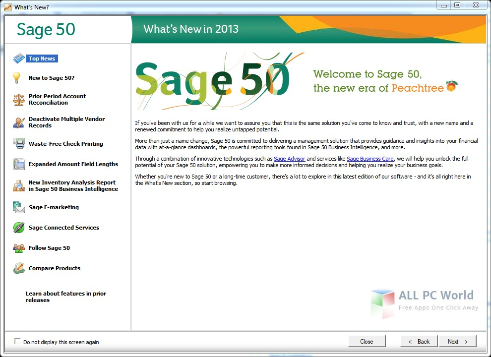 Download Peachtree Sage 50 Pro Accounting 2013 Free - ALL PC