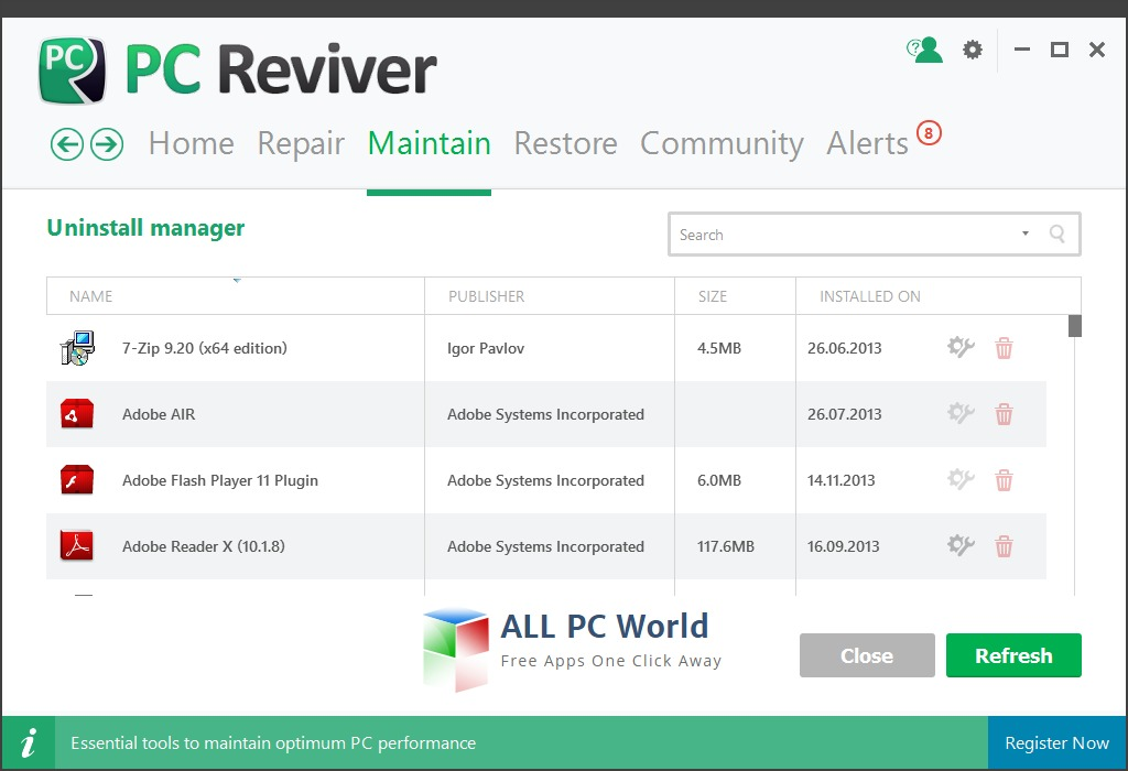 Download ReviverSoft PC Reviver Free