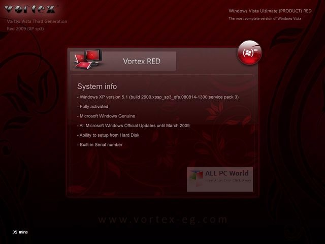 Download Windows XP Vortex 3G Red Edition ISO Free - ALL PC World