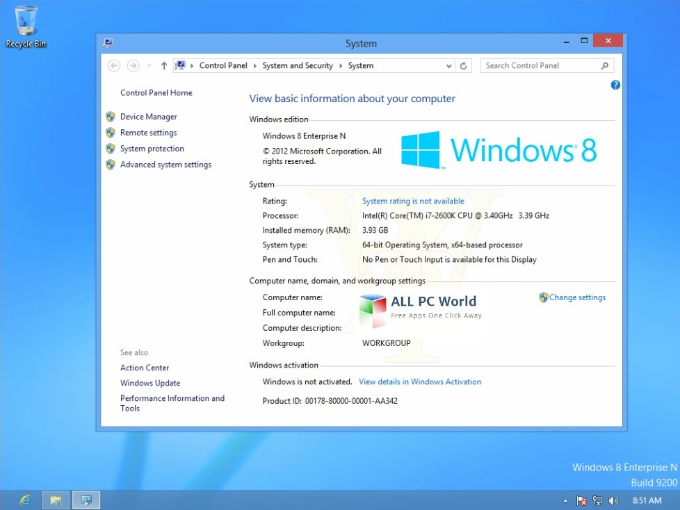 Windows8 Enterprise RTM Build 9200 User Interface