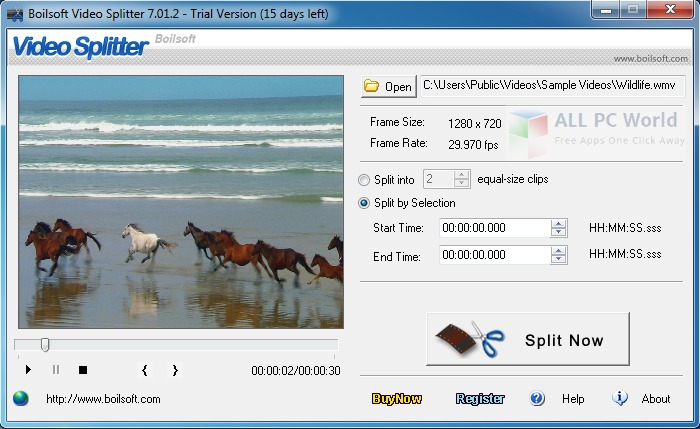 Boilsoft Video Splitter Review