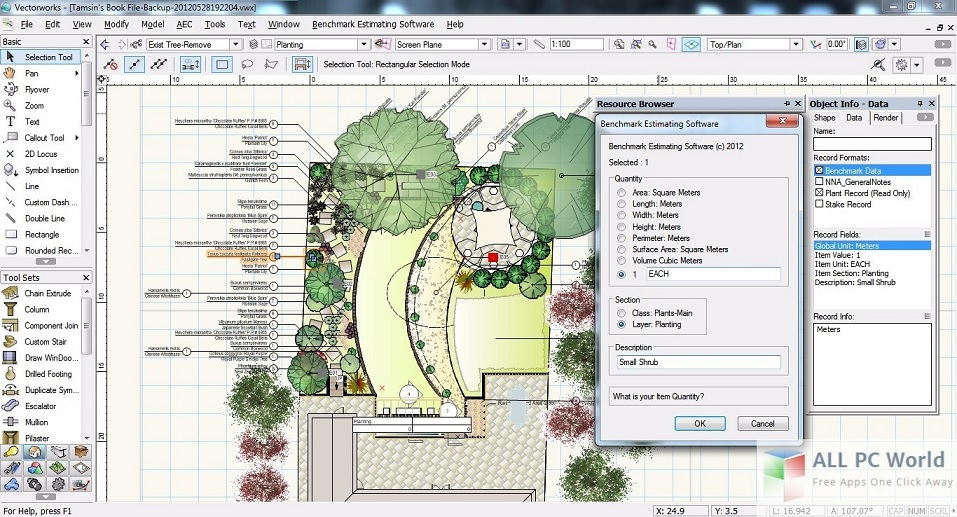 Vectorworks 12.5.1 User Interface