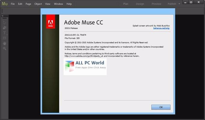 Adobe Muse CC 2015 User interface