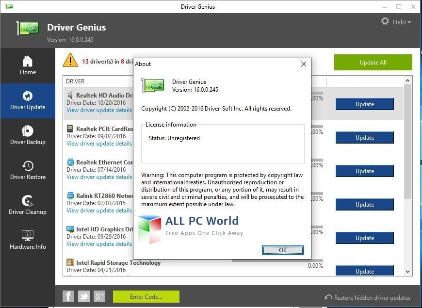 driver genius professional edition license code free download