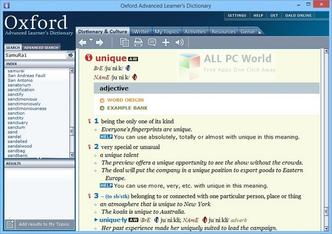 Download Oxford Advanced Learner's Dictionary 9th Edition Free - ALL
