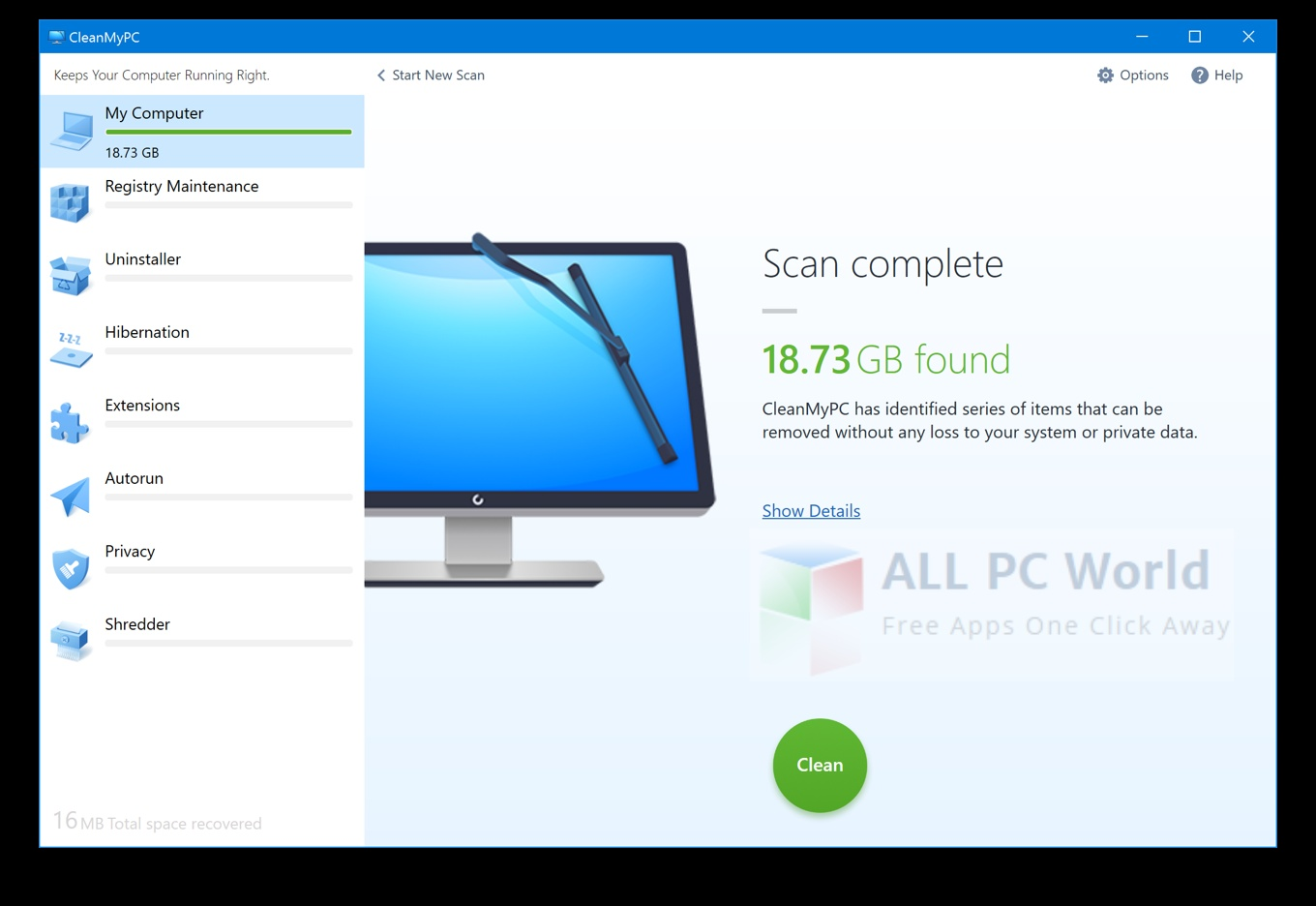 MacPaw CleanMyPC 1.8.6.893 Review