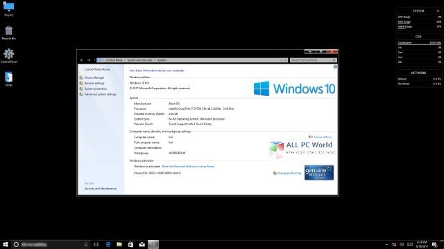 Download Windows 10 Pro Black x64 June 2017 Free