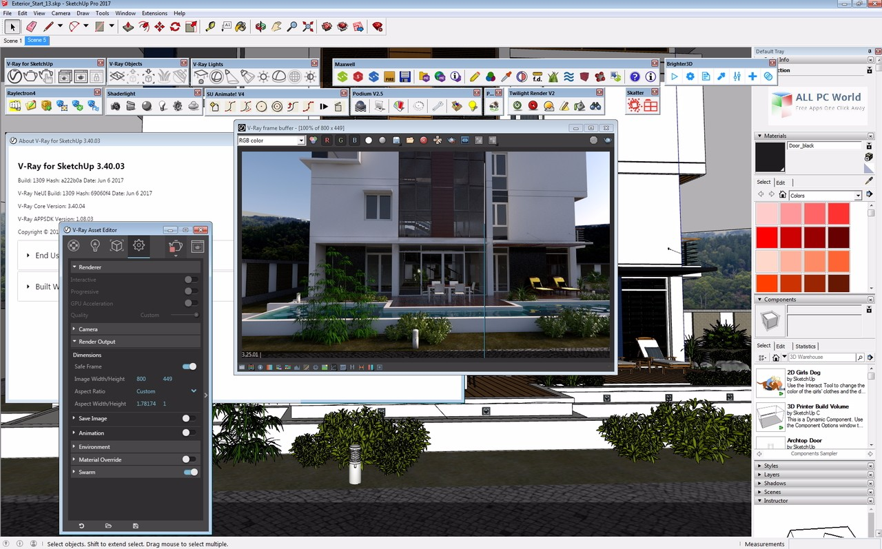 V-Ray 3 40 for SketchUp 2017 Free Download - ALL PC World