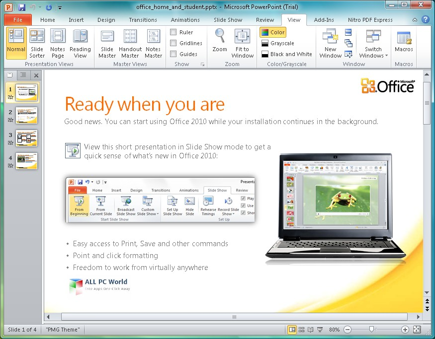 Download Microsoft Office 2010 Home and Business Free - ALL PC World