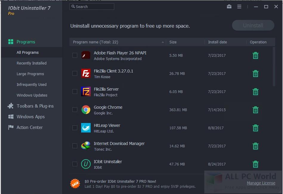 Download IObit Uninstaller 7 Pro Free - ALL PC World