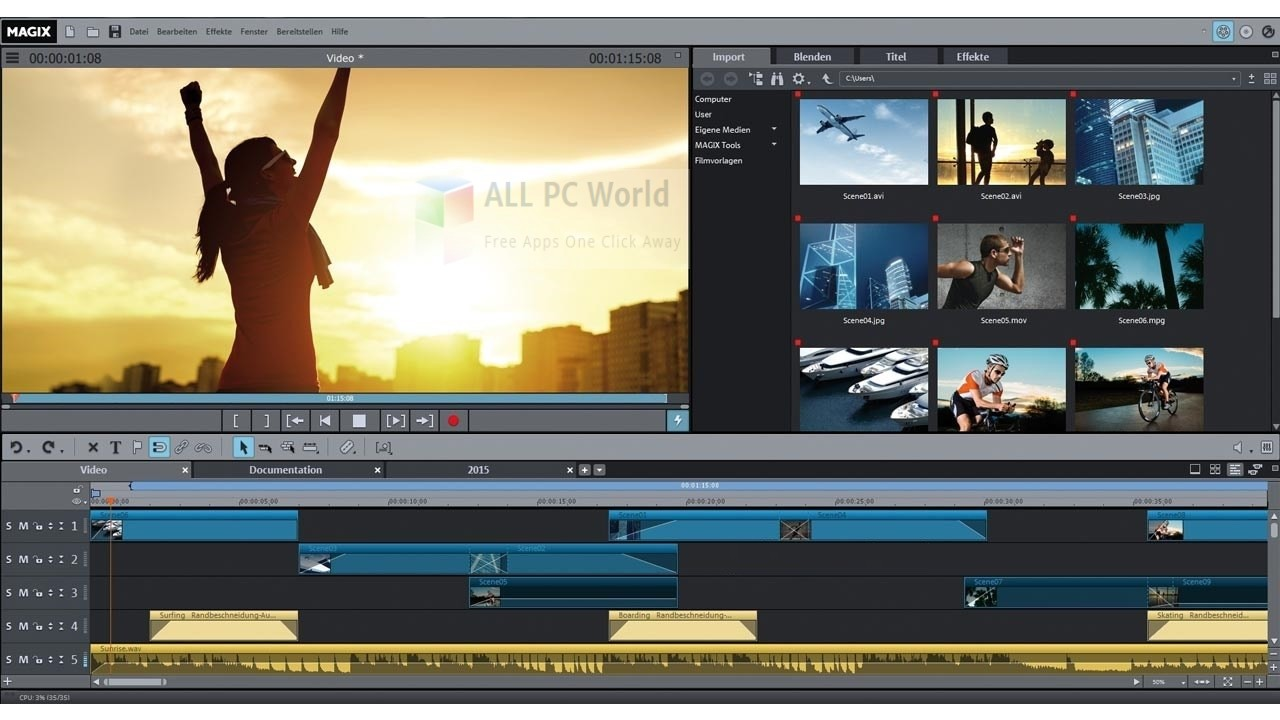 MAGIX Movie Edit Pro Premium 2018 Offline Setup Download