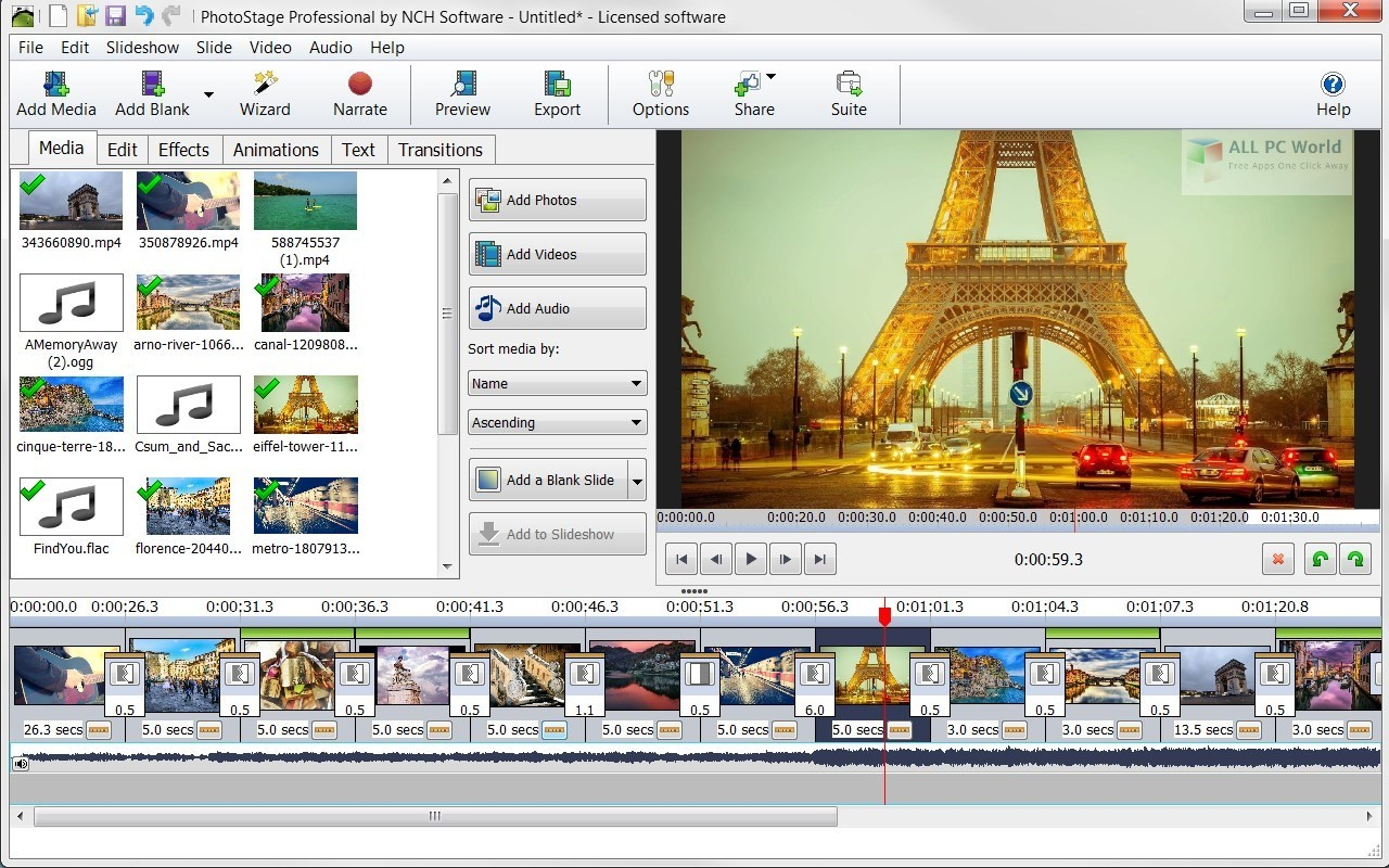 nch photostage slideshow software