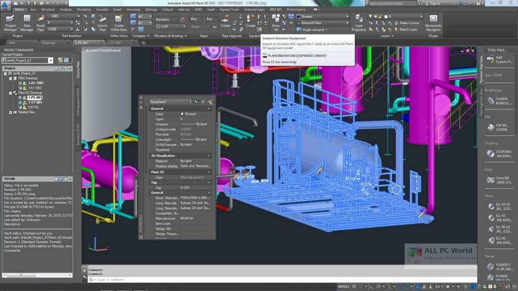 AutoCAD Plant 3D 2018 Review