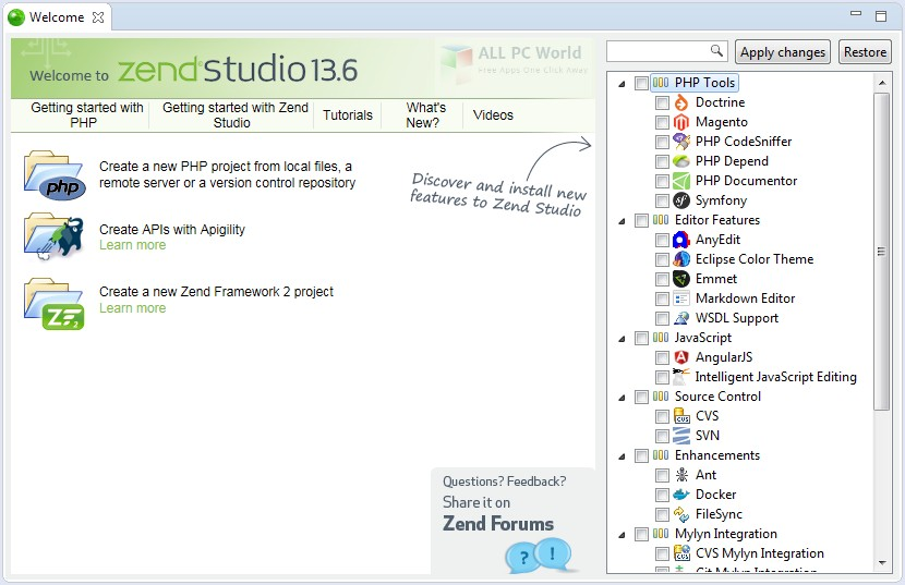 Download Zend Studio 13.6