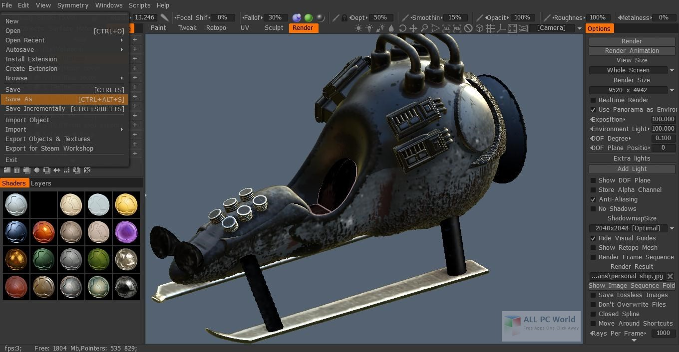 3D-Coat 4.8 Free Download