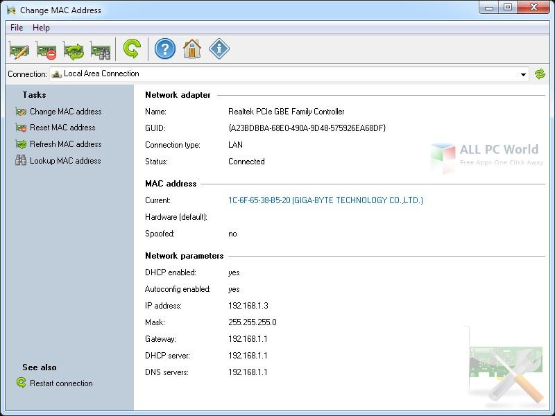Download Change MAC Address 3.2 Free