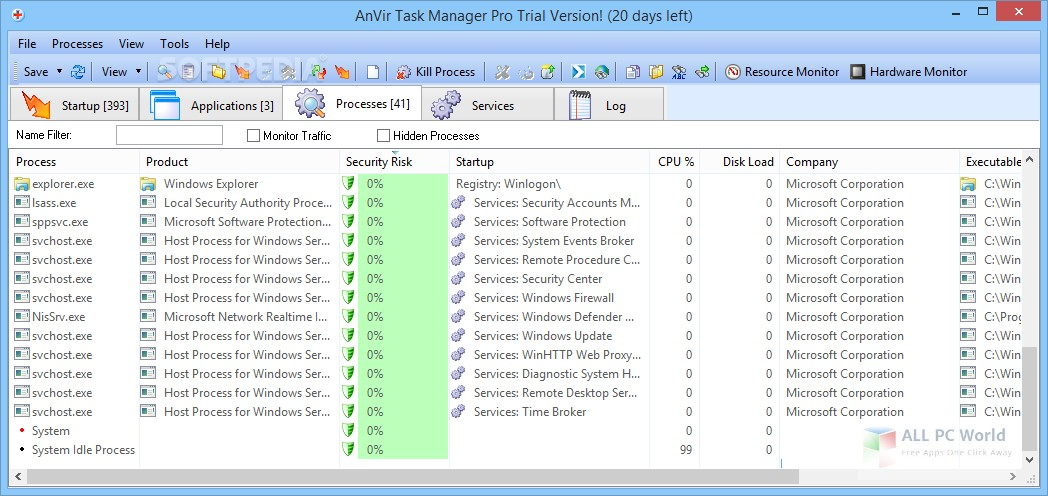 Download AnVir Task Manager Pro 9.2 Free