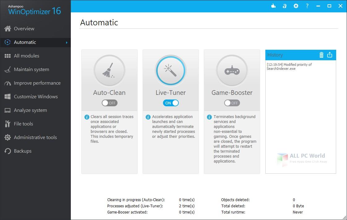 Ashampoo WinOptimizer 16 Automatic PC Maintenance