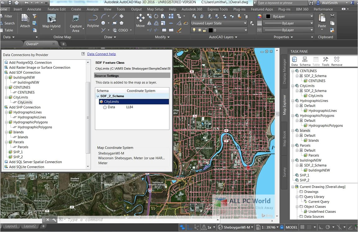 Download AutoCAD Map 3D 2019 Free - ALL PC World